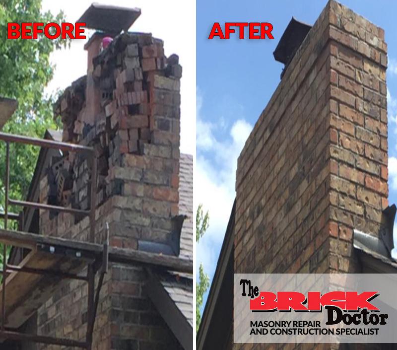 brick repair chimney