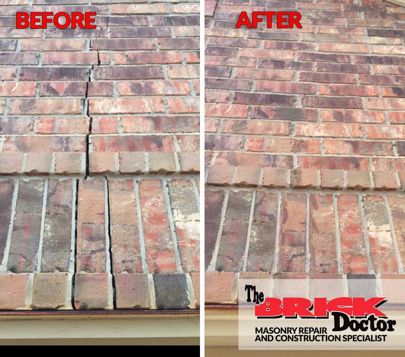 brick crack repair