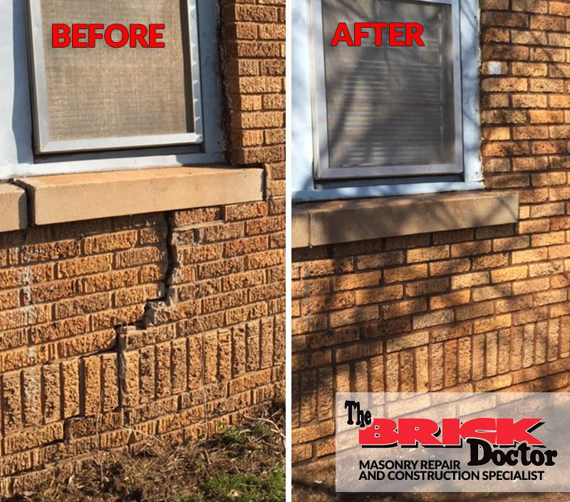 before and after brick repair
